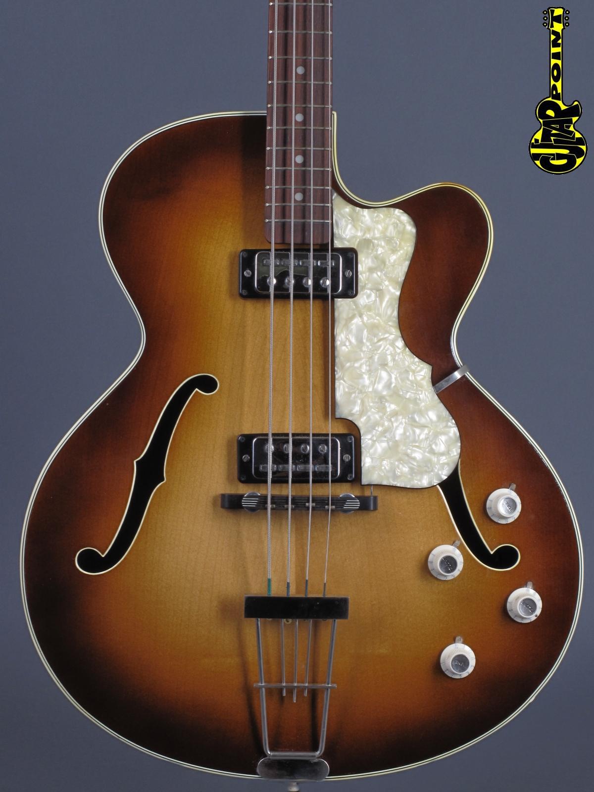 1964 Höfner 500/5 Semiacoustic Bass - Sunburst