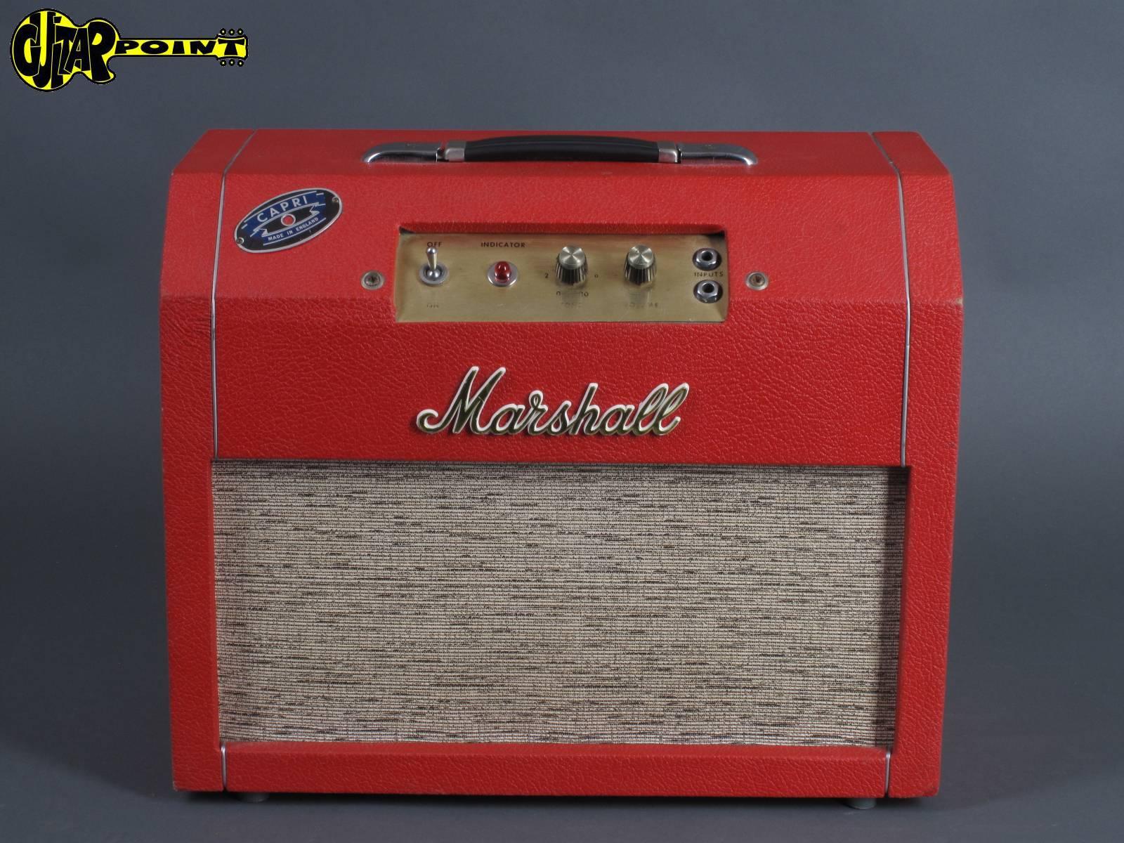 "1969 Marshall Capri - Red  / 2x 8"" Tube-Combo"