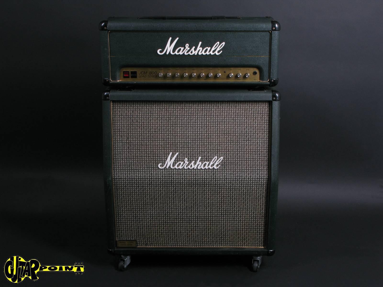"1986 Marshall JCM800 Limited 100W +  4x12"" cab - Green"