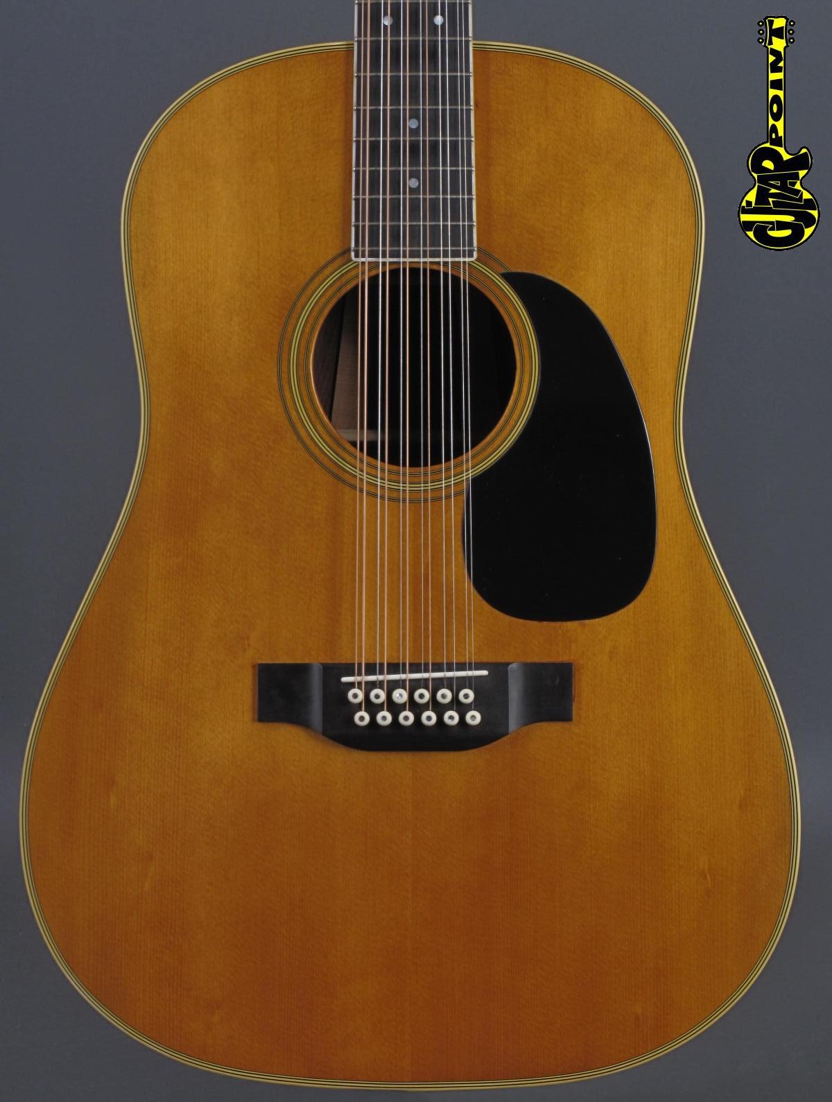 1970 Martin D 12-35 - Natural  / 12-string