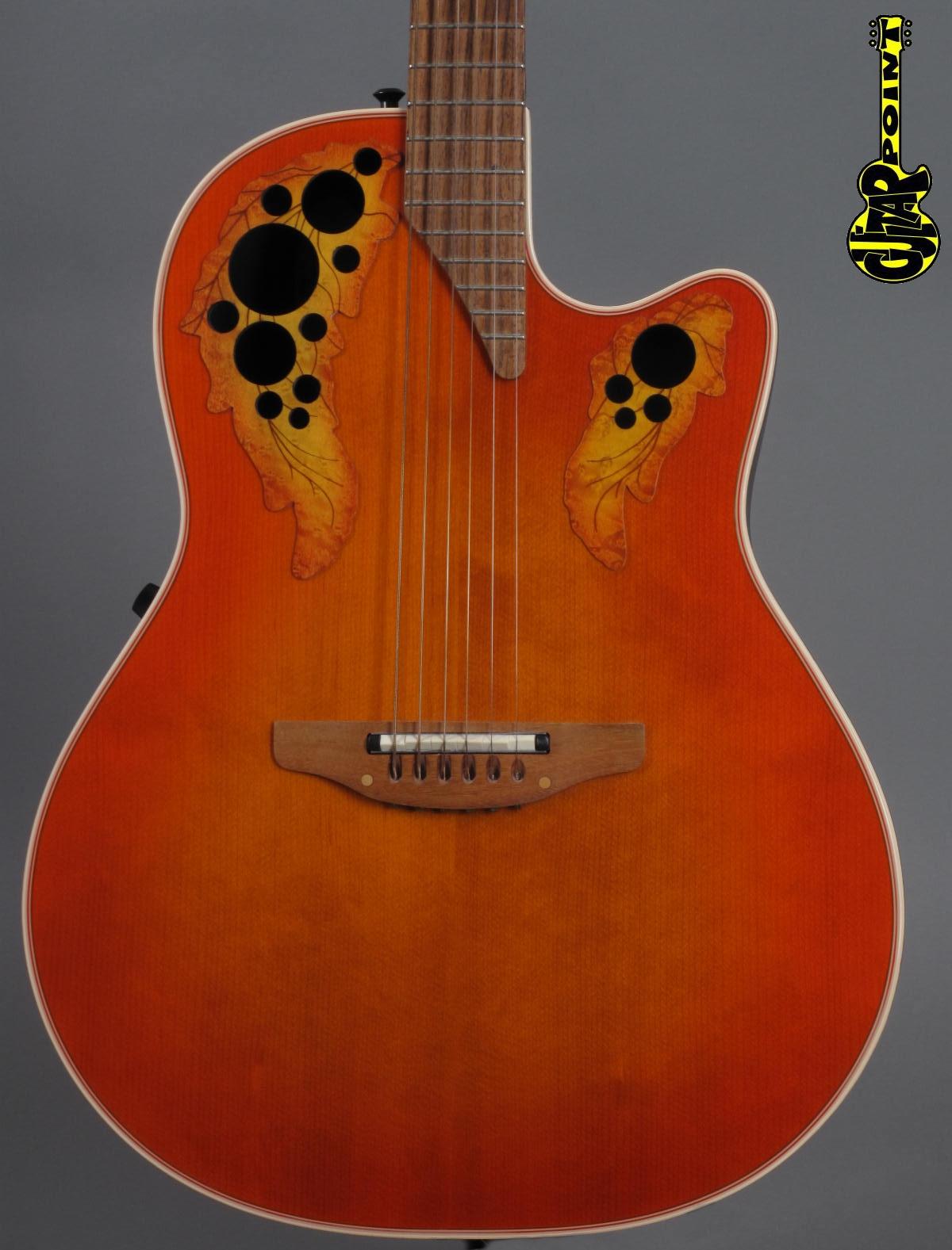 1994 Ovation Elite Standard Model 6768 - Orange Cherry Burst