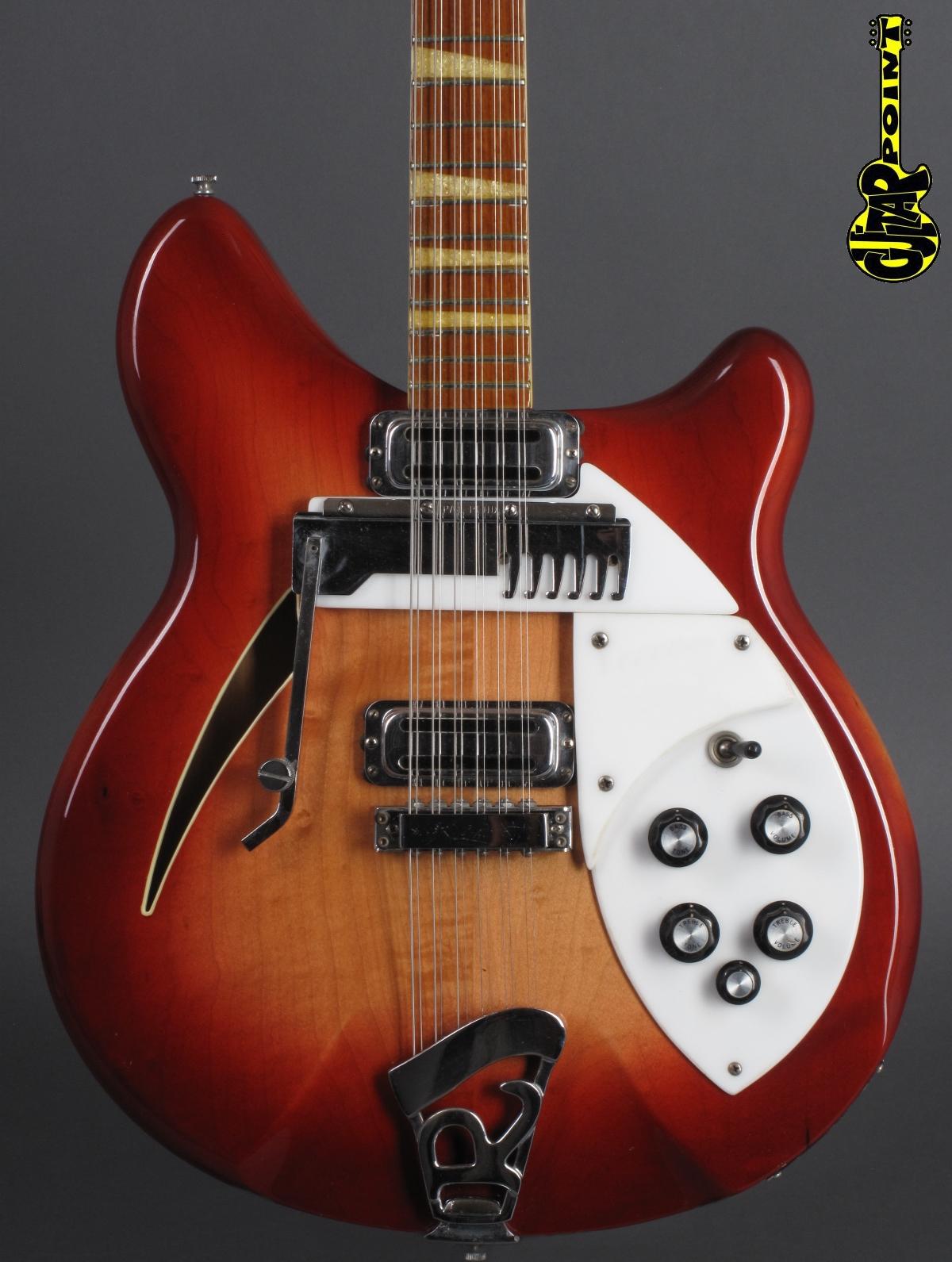 1967 Rickenbacker - 366-12 Convertible - Fireglo