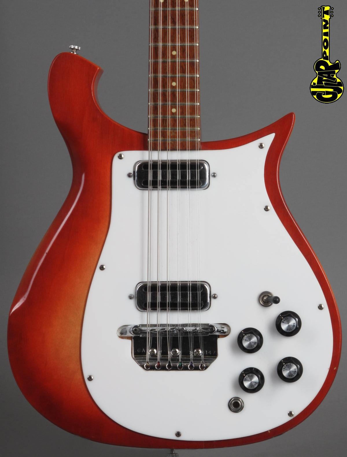 1967 Rickenbacker 450-12 /  Fireglo