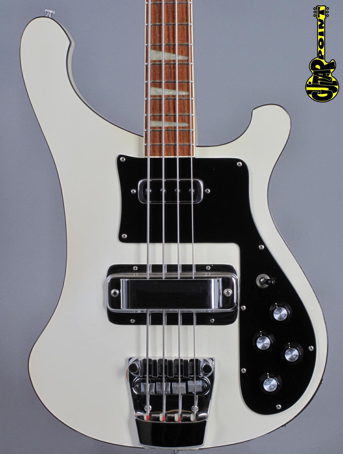 1978 Rickenbacker 4001 Bass - Tuxedo White