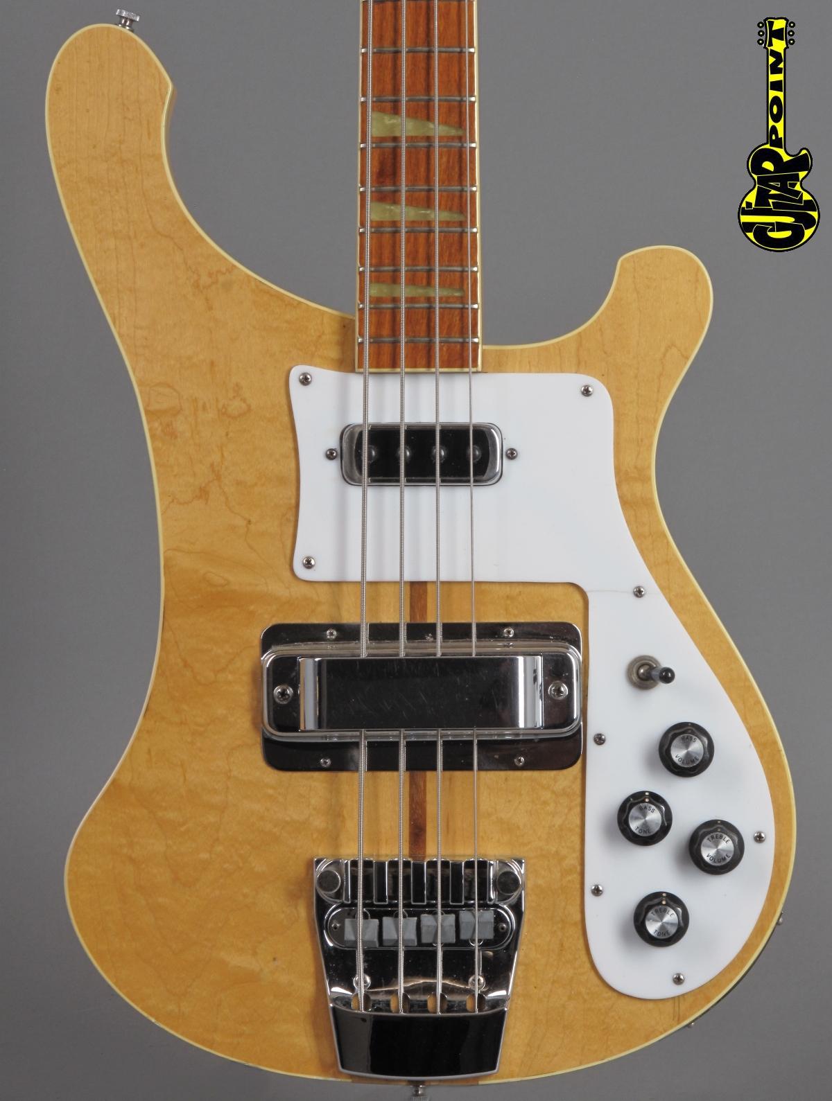 1978 Rickenbacker 4001 Bass - Mapleglo