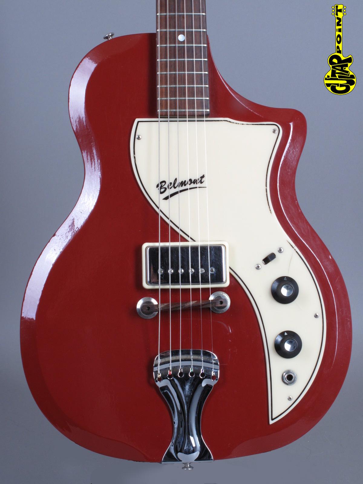 1961 Supro 1570 Belmont - Maroon