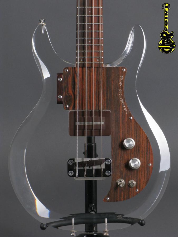 1970 Dan Amstrong (Ampeg) Lucite Bass -V70AmpPlexD2441A