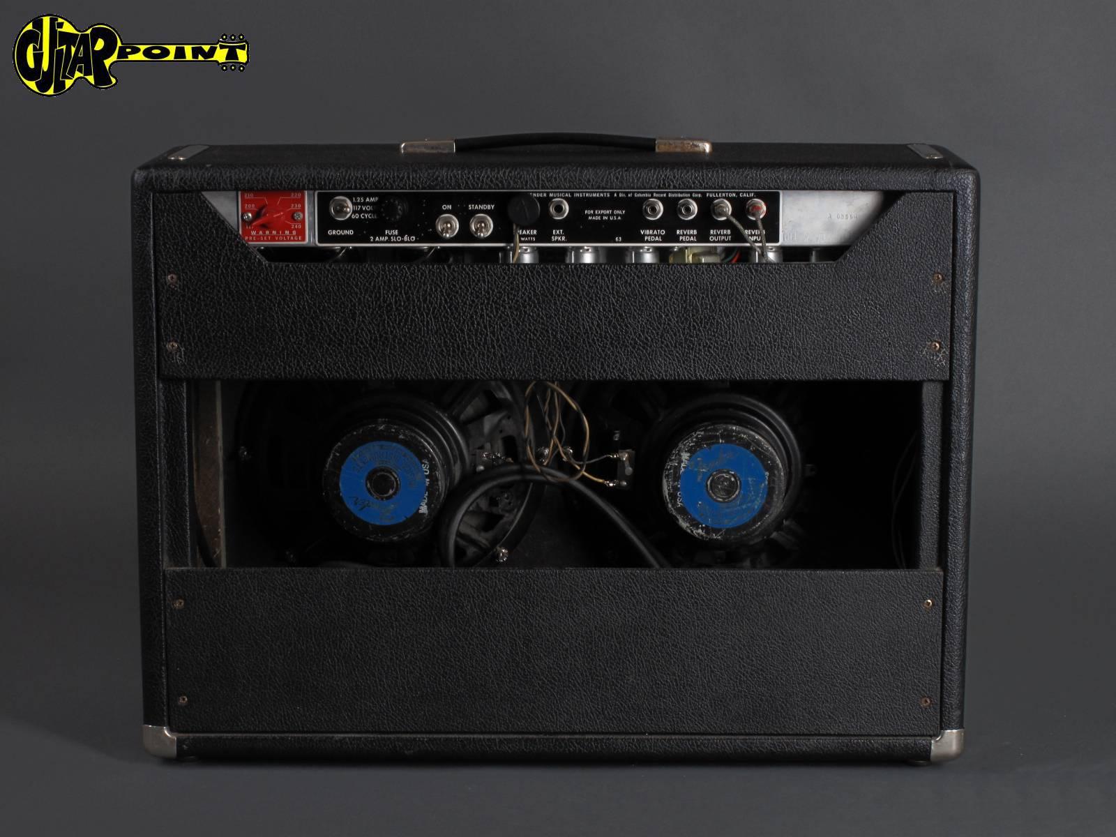 1967 fender vibrolux reverb amp blackface vi67fevibroluxreva08664. Black Bedroom Furniture Sets. Home Design Ideas