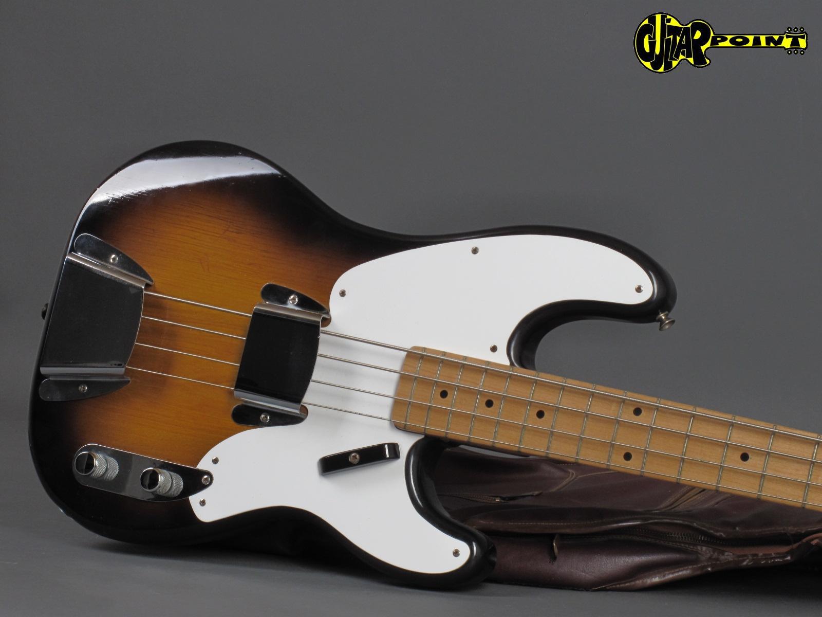 1957 fender precision bass 2 tone sunburst mint vi57fepreci2tsb15487. Black Bedroom Furniture Sets. Home Design Ideas
