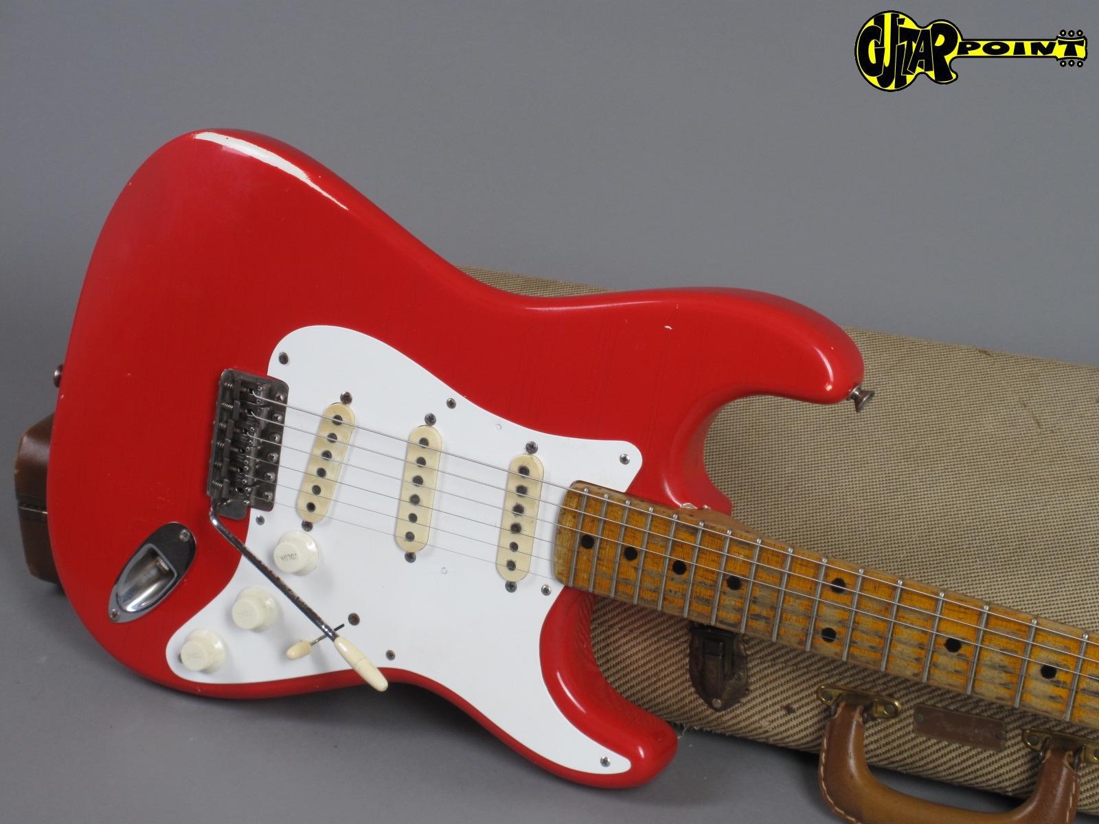 1958 fender stratocaster fiesta red only 3 34kg vi58strfiestar29487. Black Bedroom Furniture Sets. Home Design Ideas