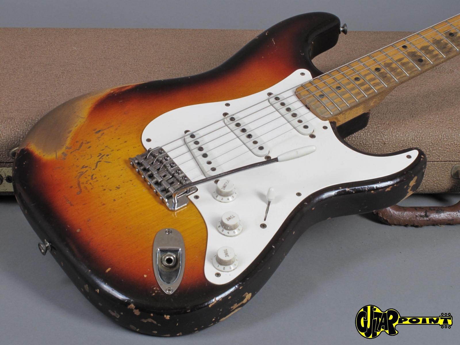 Fender Stratocaster Neck >> 1959 Fender Stratocaster 3 Tone Sunburst Maple Neck