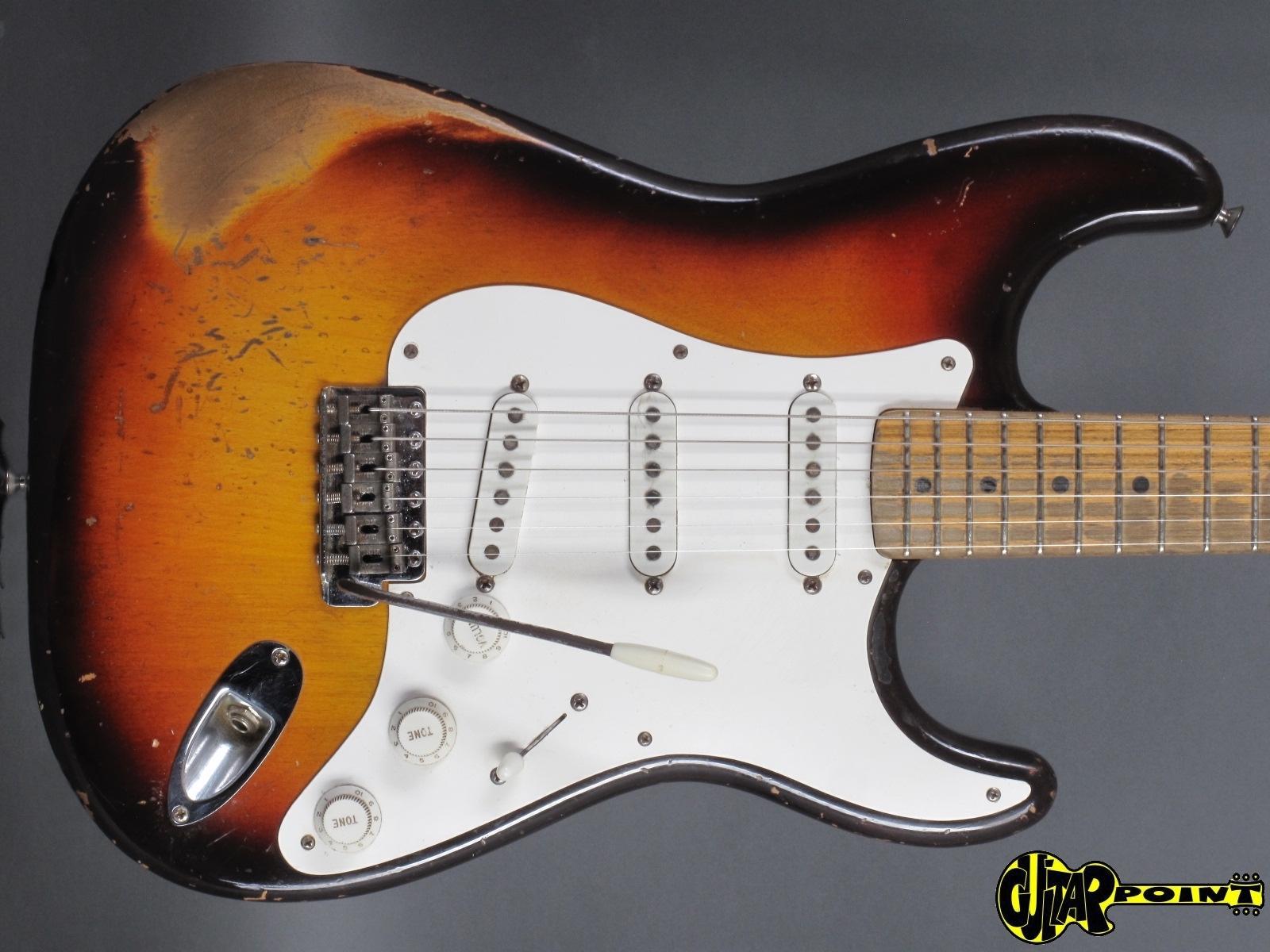 1959 Fender Stratocaster - 3-tone Sunburst / Maple-neck ...