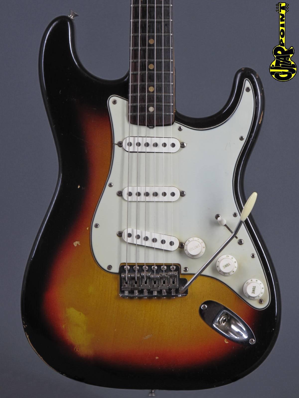 1963 Fender Stratocaster Olympic White + OSSC - ATB Guitars Ltd.