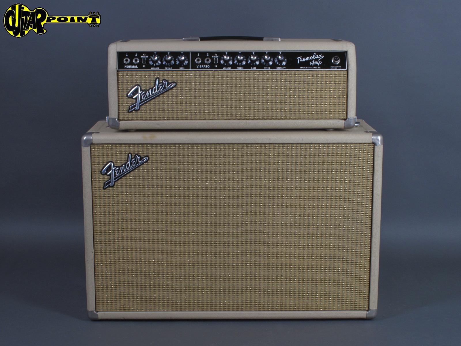 1964 Fender Tremolux + Speaker Cabinet - White Tolex