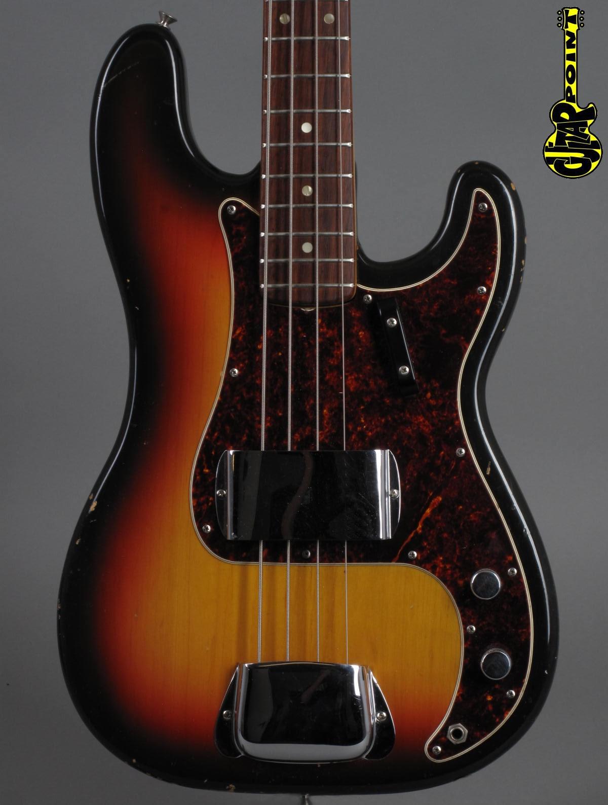 1968 fender precision bass 3t sunburst vi68fepreci3tsb241302