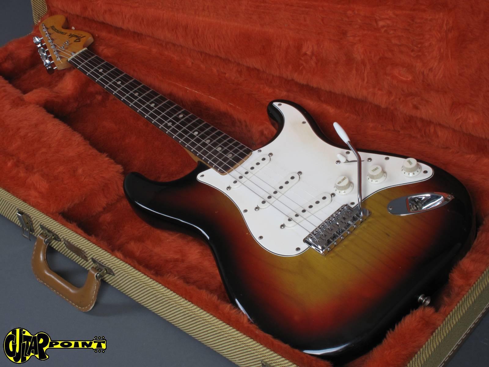 1976 fender stratocaster 3t sunburst rosewood neck vi76festr3tsb68836. Black Bedroom Furniture Sets. Home Design Ideas