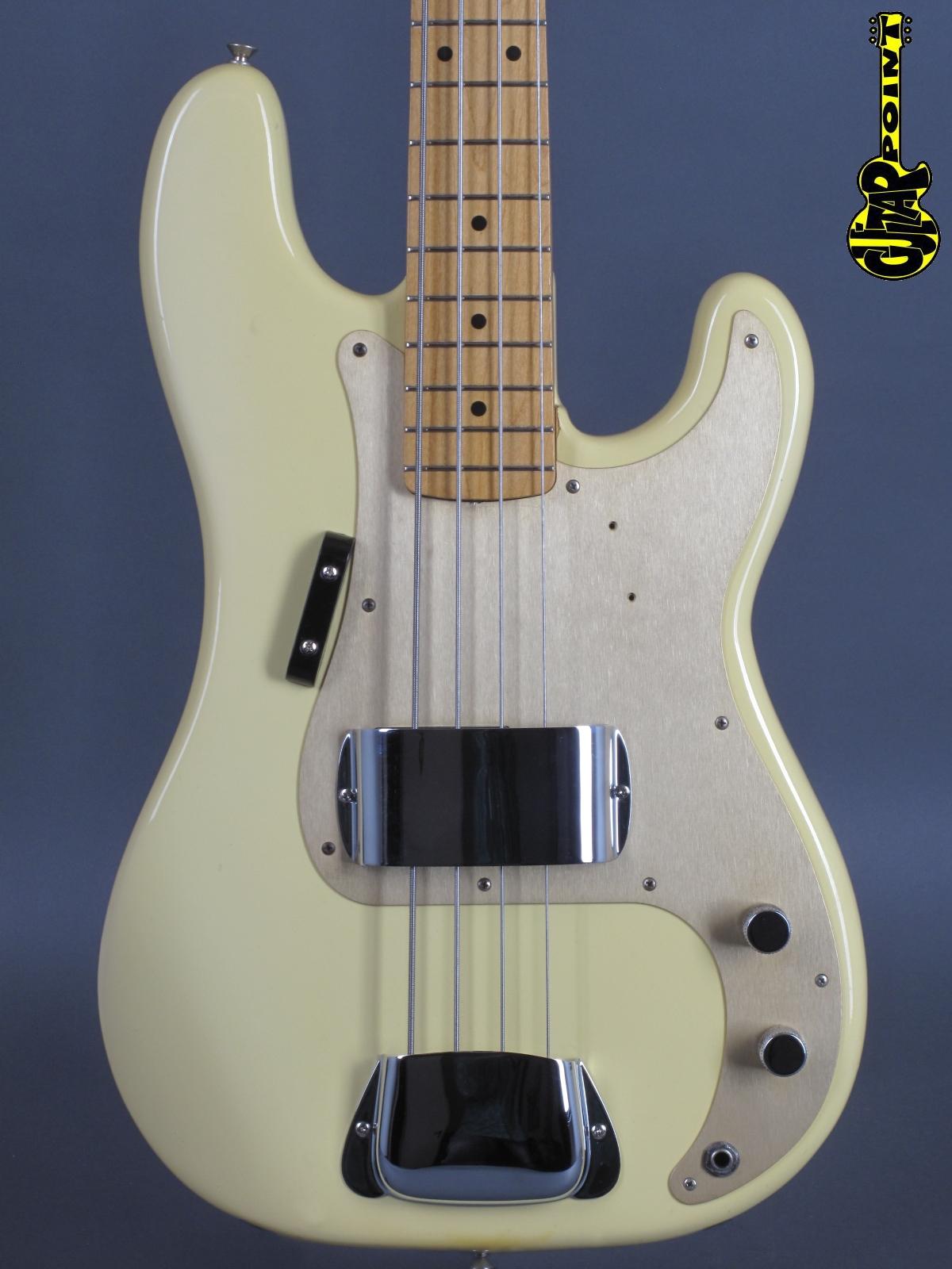 1982 fender 57 precision bass olympic white fullerton vintage reissue vi82fe57pbriow v006669. Black Bedroom Furniture Sets. Home Design Ideas