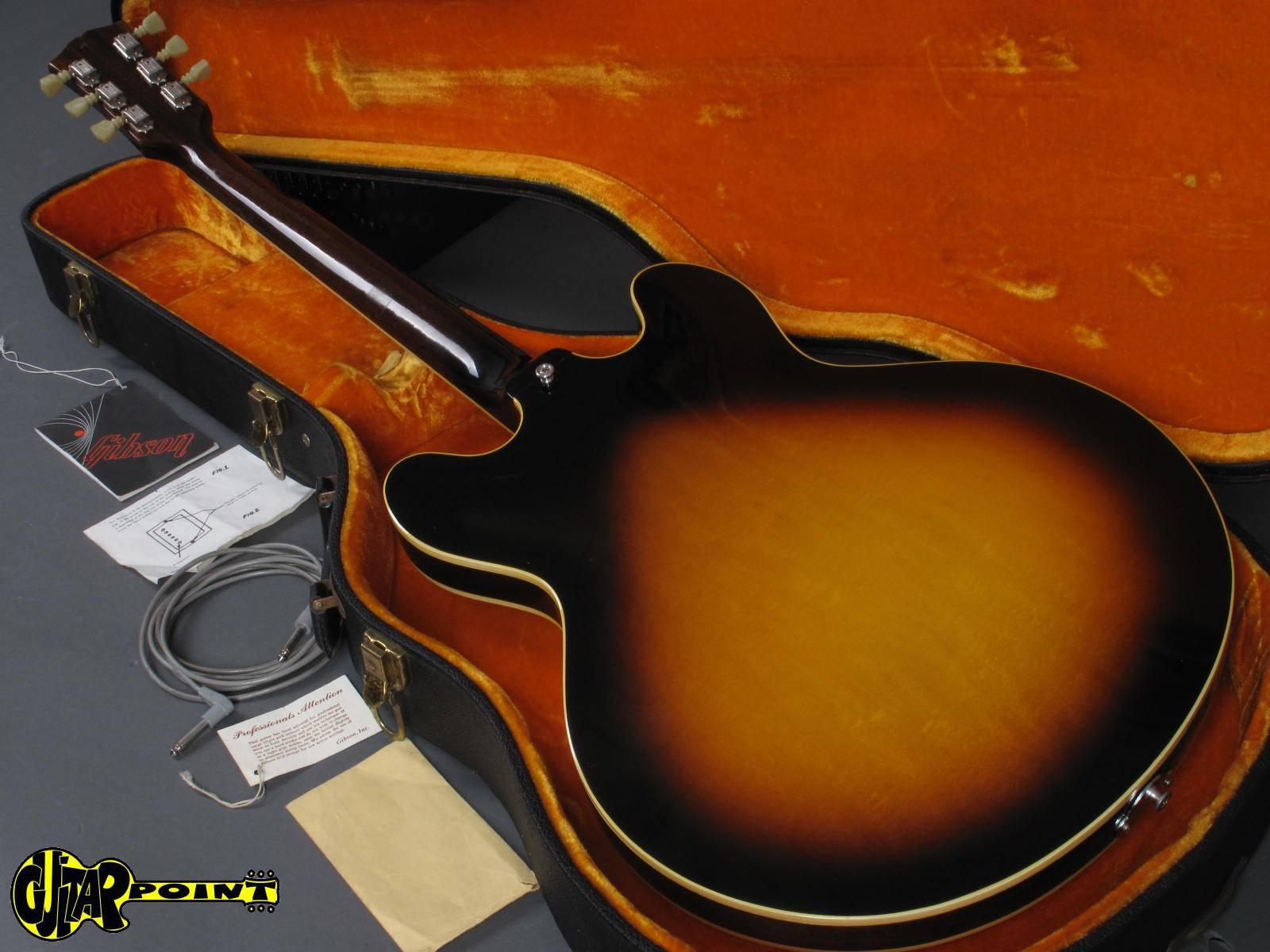 74cc70010b2 1968 Gibson ES-335 TD - Sunburst   Mint !   Case Candy ...