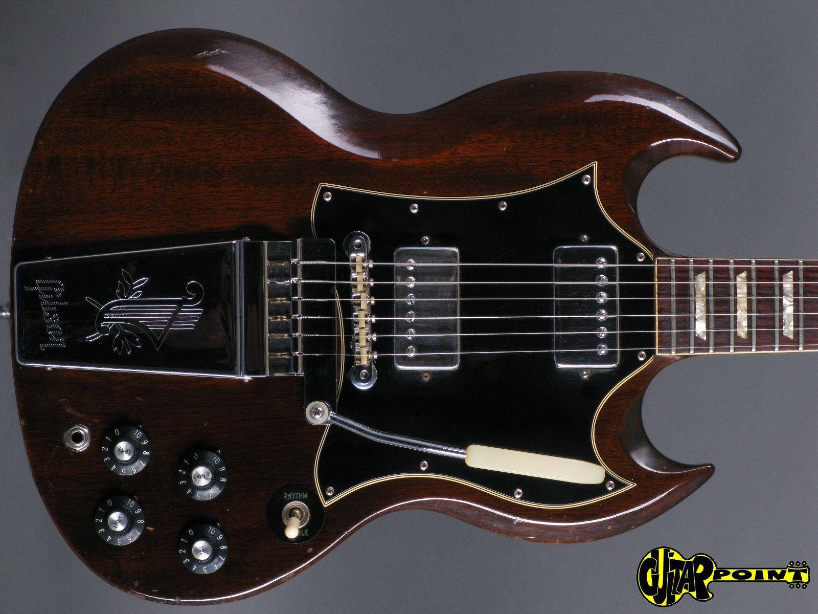 1969 gibson sg standard brown vi69gisgstd534477