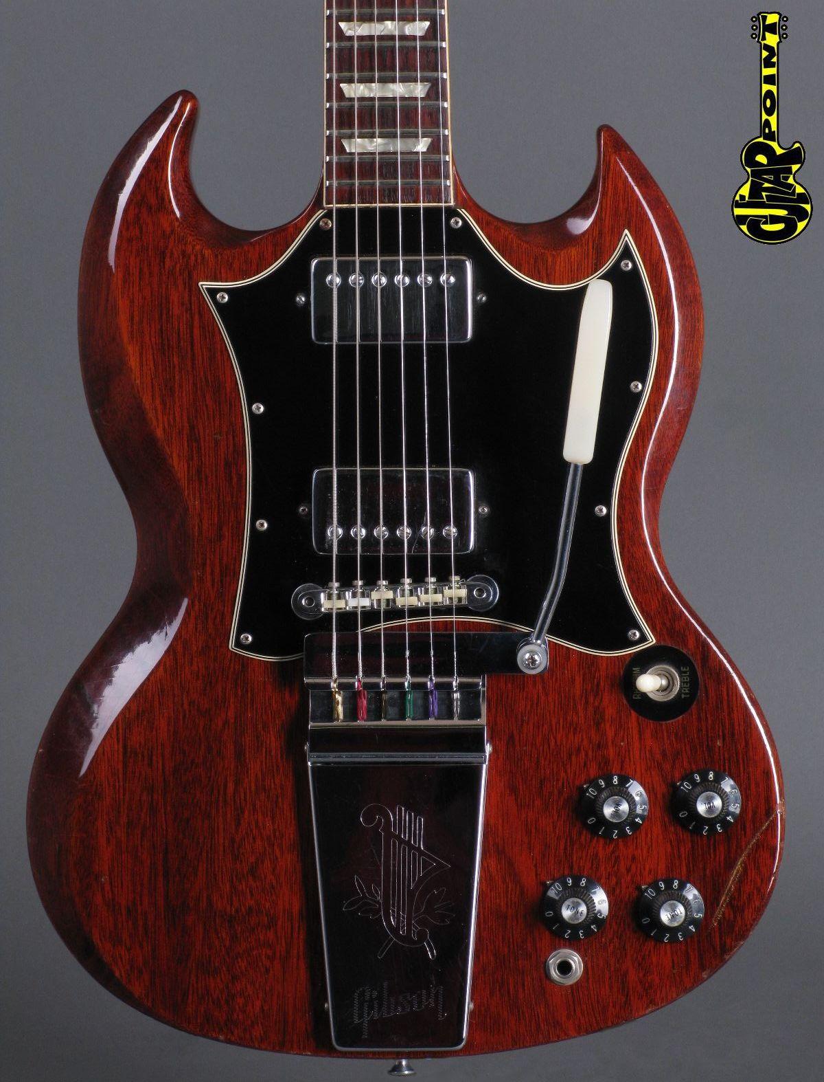 1969 gibson sg standard cherry like 1968 lightweight
