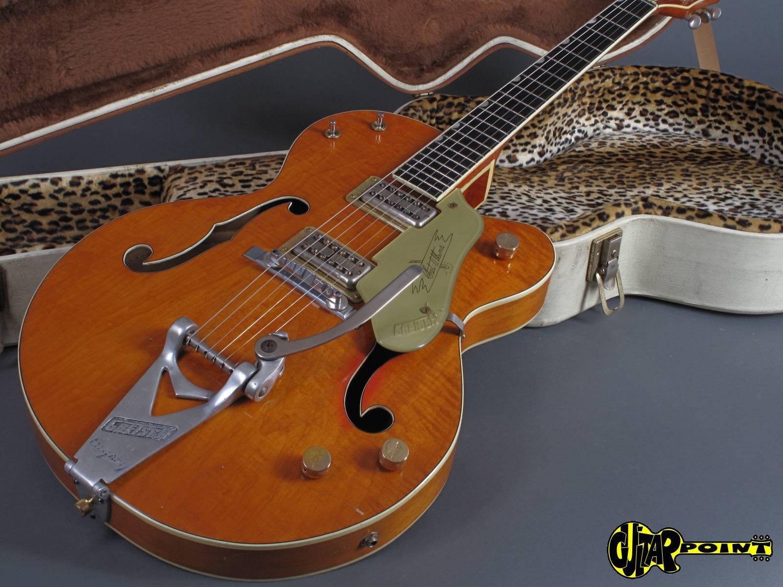 1961 gretsch 6120 chet atkins orange single cutaway vi61gret6120 42860. Black Bedroom Furniture Sets. Home Design Ideas